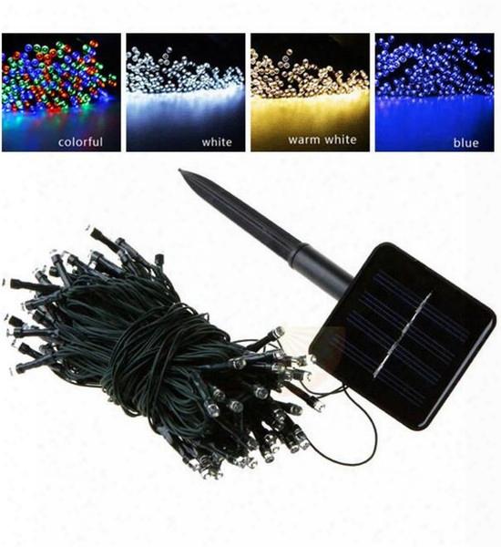 100 Led 200 Led Outdoor 8 Modes Solar Powered Strin G Light Garden Christmas Party Fairy Lamp 10m 22m