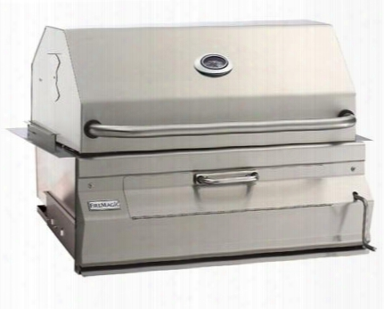 """14s101ca Charcoal 32"""" Stainless Steel Grill With Stainless Steel Constructions And Integrated Warming Rack In Stainless"""