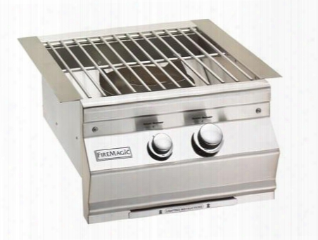 """19s0b1p0 Aurora 19"""" Power Burner With Stainless Steel Grid Up To 60 000 Btus Liquid Propane In Stainless"""