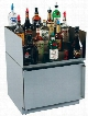 "HWL 24"" Built-In Liquor Shelf with Bottle"