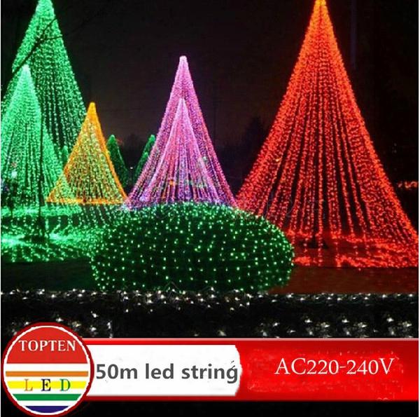 Hi-q Waterproof 300 Led String Light 50m 220v-240v Outdoor Decoration Light For Christmas Party Wedding 8colors Indoor Outdoor Decoration