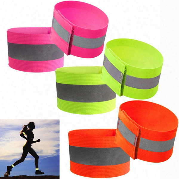 10pcs Ultralight Safety Reflective Warning Band Belt Arm Leg Straps For Outdoor Sports Accessories Night Cycling Protector Angel