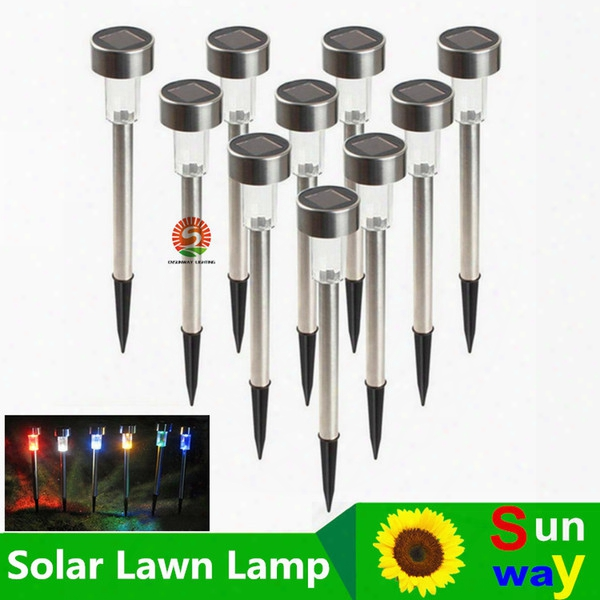 Best Solar Lamps Solar Led Light Multicolor Stainless Steel Solar Lawn Lights Led Garden Light Decoration Outdoor Street Lamps Waterproof