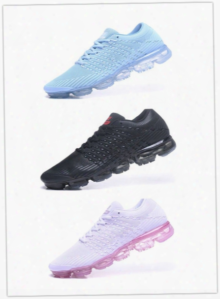 2018new Vapormax Men Running Shoes For Men Sneakers Knitting Outdoor Trainers Athletic Sport Shoe Drop-plastic Surface Full Palm Aair Cushion