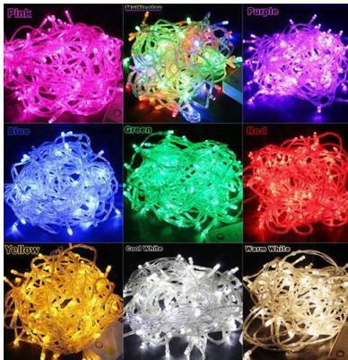 50m Waterproof Outdoor Festival 400 Led String Fairy Light Christmas Wedding Party Holiday Garden Holiday Decoration Lights 110-220v