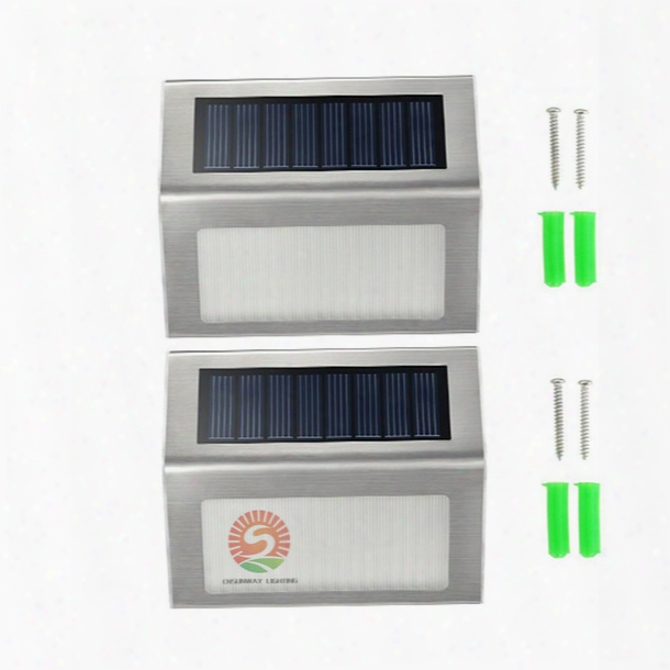 Solar Lights Led Lamps Solar Lights For Garden Ip44 2 Leds Outdoor Wall Lightimported Single Crystal Silicon Solar Panel Cheap But Reliable