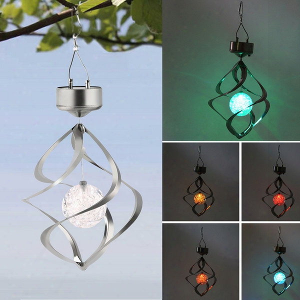 Colorful Changing Solar Powered Led Fairy Light Outdoor Hanging Spiral Garden Light Decoration Light For Party Wedding Holiday Wholesale