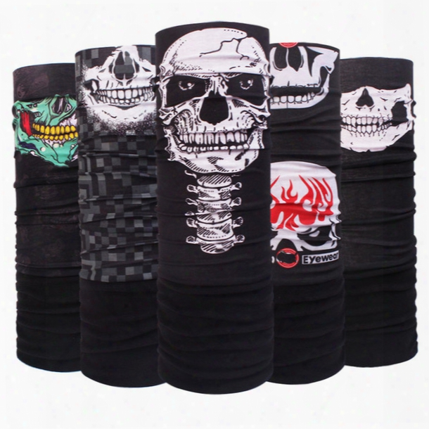 Motorcycle Tube Scarf Headwear Skull Face Shield Outdoor Magic Seamless Bandana Multifunctional Headwear Sc Arves