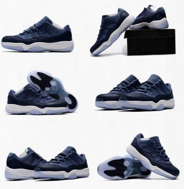 (with Box) Top Quality Air Retro 11 Xi Low Gs Blue Moon Mens Basketball Shoes Retro 11s Sports Sneakers Outdoor Shoes Size 40-47