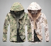 Soft Shell Outdoor Jacket Men Shark Desert Camouflage Military Tactical Waterproof Forest Camo Sports Spring Hoody Winter Hunting Jacket