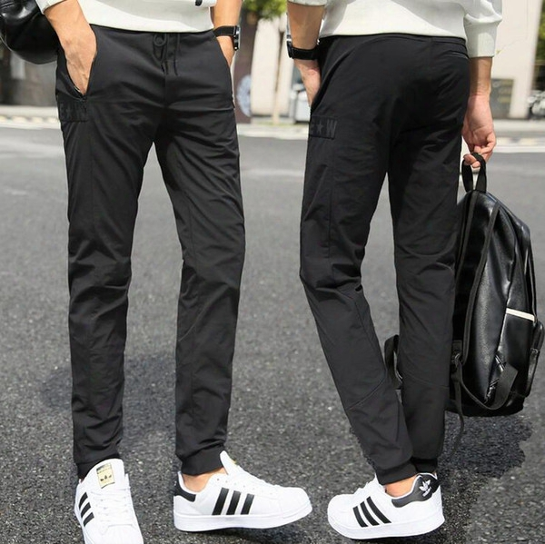 Hot Sale Summer Youth Stretch Outdoor Sports Male Casual Pants Trousers Slim Fashion Pm008 MenƏs Pants