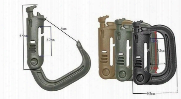 10pcs Outdoor Tactical Multifunctional Quick Release Grimlock D-ring For Molle System Backpack Mountaineering Carrying Locking Ring D Model