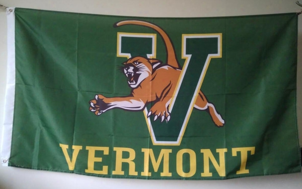 Vermont Catamounts Flag 90 X 150 Cm Polyester Ncaa Stars And Stripes Outdoor Banner