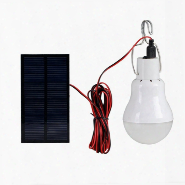 Wholesale-2016 Newest Portable 130lm Solar Powered Led Bulb Light Outdoor Solar Energy Lamp Lighting For Hiking Fishing Camping Tent Light