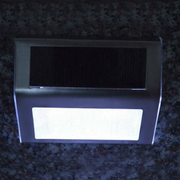 Wholesale-outdoor Garden Yard Led Solar Powered Path Stair Light Fence Wall Landscape Lamp H1