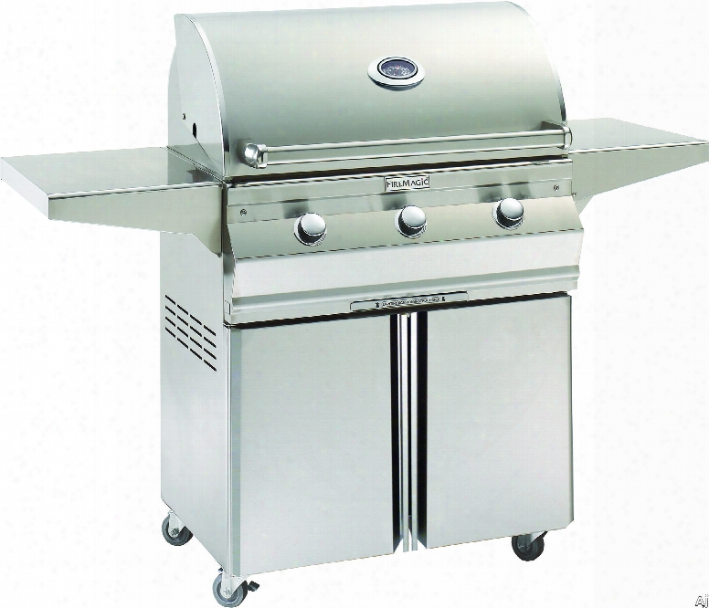 Fire Magic Choice Collection C540s1t1n96 58 Inch Freestanding Gas Grill With 540 Sq. In. Cooking Surface, 60,000 Btu, Stainless Steel Burners, Stainless Steel Flavor Grids And Analog Thermometer: Natural Gas