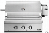 DCS BH130R 30 Inch Built-In Gas Grill with 748 Sq. In. Cooking Area, Stainless Steel Grill Grates, 64,000 BTU Total Output, 2 Grill Burners, Integrated Rotisserie Burner and Hood Temperature Gauge