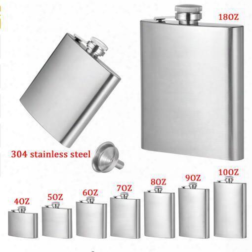 4oz 5oz 6oz 7oz 8oz 10oz 18oz Jug Stainless Steel Hip Flask Portable Outdoor Flagon Whisky Stoup Wine Pot Alcohol Bottles