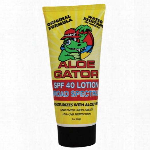 Aloe Gator Spf 40 Aloe Sunscreen Lotion, 3oz.