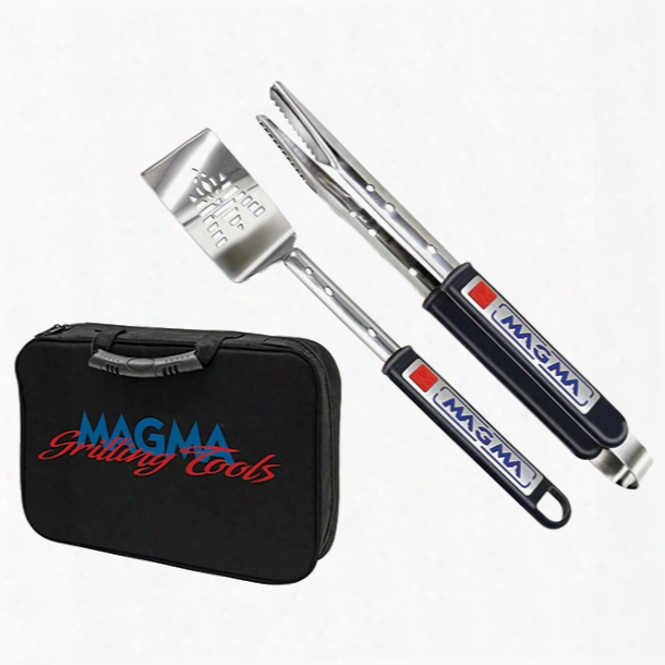 Magma Three-piece Telescoping Stainless Steel Grilling Tool Embarrass
