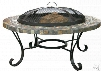 Blue Rhino WAD931SP Outdoor In-Table Wood Burning Fire Pit with Slate Tile and Copper Design