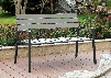 Isha CM-BN1869GY Outdoor Bench with Transitional Style Slatted Design Aluminum Frame UV and Water Resistant in