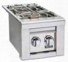 """Vqgsb5130nss 13"""" Outdoor Natural Gas Double Side Burner In Stainless"""