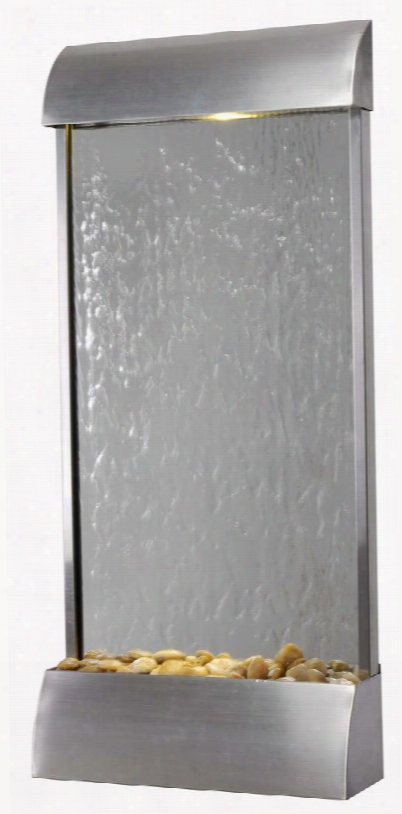 50053stst Waterville Floor/wall Fountain In Stainless Steel Finish With Mirrored