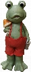 """QWR294 22"""" Frog Boy in Red"""