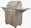 LM21028MCN Masterpiece Series 36 000 BTU Mobile Freestanding Grill on Enclosed Cabinet Base with Single Door and 115 Volt