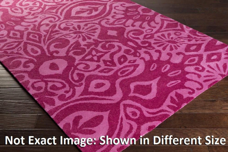 Alhambra Alh5021-811 8' X 11' Rectangular 100% Wool Hand Tufted Rug With Medium Pile And Made In India In Hot Pink And