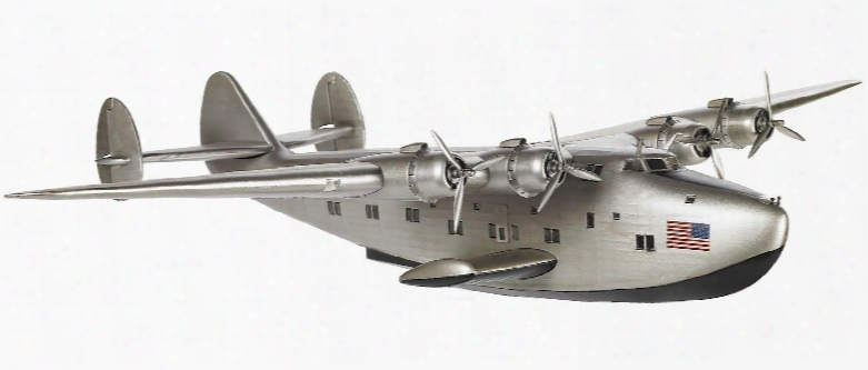 Ap451 Boeing 314 'dixie Clipper' 31.5&quof; With Flat Or Corrugated Metal Material In Silver