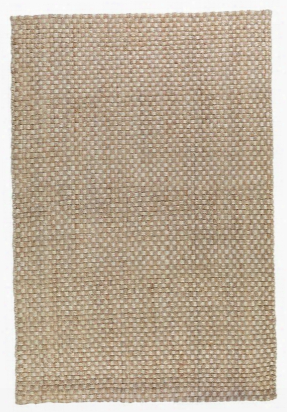 Basket Weave Rug In Natural & Bleach Design By Classic Home