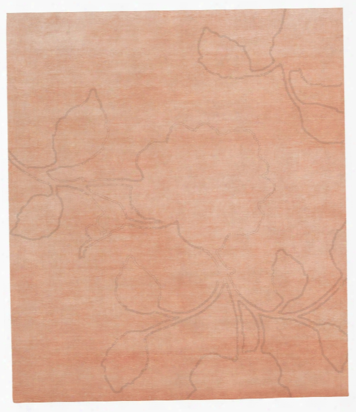Bellagio Ruby Hand Knotted Rug In Orange Desgin By Second Studio