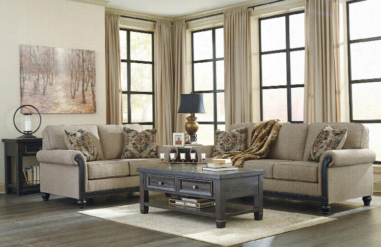 Blackwood 33503-38-35-t895-kit1 Living Room Set With Sofa Loveseat Cocktail Table End Table Sofa Table Rug Decorative Throw Lamp 2pc Candle Holder Set