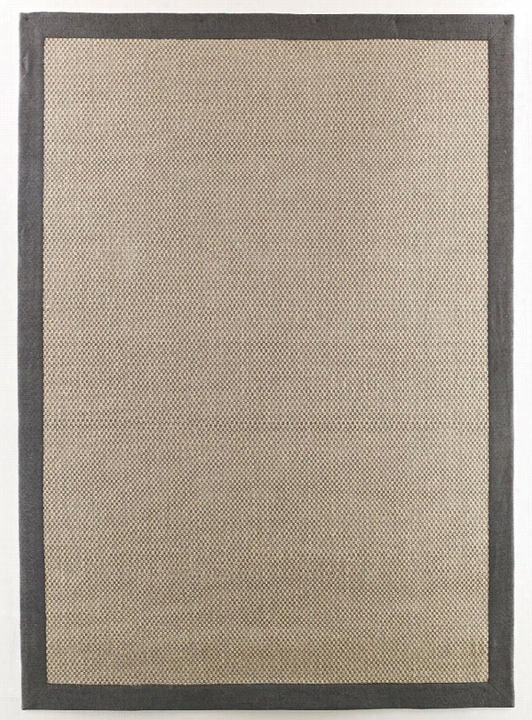 "Delta City R297002 84"" X 60"" Medium Size Rug With Jute Weave Material And Cotton Twill Border In Steel"