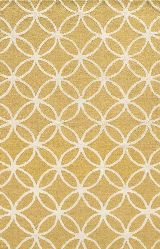 Edheh8898ye000912 Eden Harbor Eh8898-9' X 12' Hand-tufted Premium Blended Wool With Viscose Accents Rug In Yellow Rectangle