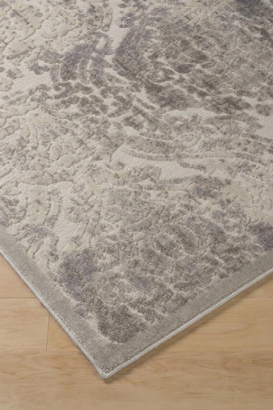 """Fulci R401712 89"""" X 63"""" Medium Size Rug With Bastract Florl Design Machine-tufted 13mm Pile Height Spot Clean Only Polyester And Acrylic Blend Material In"""