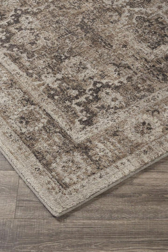 """Geovanni R401141 120"""" X 96"""" Large Size Rug With Moroccan Frets Design Machine-woven 10mm Pile Height Spot Clean Only And Polyester Material In Stone And"""