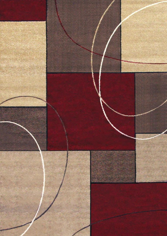 Liege Rg2004 5' X 8' Beige And Red Area