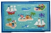 615415 Olive Kids Pirates 5x7 Rug Blue