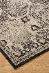 """Anzhell R401051 120"""" x 94"""" Large Size Rug with Geometric Design Machine-Woven 9.5mm Pile Height Spot Clean Only and Polypropylene Material in Black"""