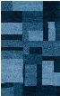 COLCL281900090810 Colours CL2819-8' x 10' Hand-Tufted New Zealand Wool Blend Rug in Blue Rectangle