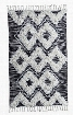 Santa Rosa Kilim Shag Rug in Ivory & Black design by Classic Home