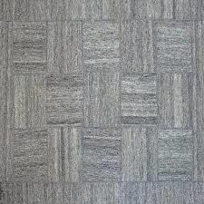 Rpat-03-7998 7'9x9'8 Gray Wool Rug Stripe