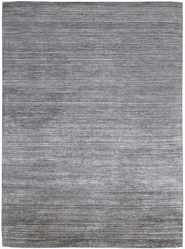 Shimmer 100% Bamboo Viscose Rug In Graphite Design By Calvin Klein Home