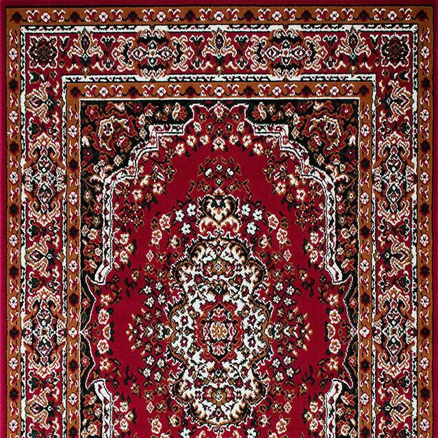 Shinta Rg5170 5' X 8' Red Area Rug With Pile Height: .40cm Backing: Jute Polypropylene-frieze Made In Indonesia In
