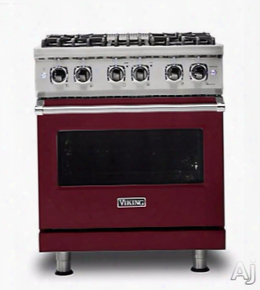 Viking Professional 5 Series Vdr5304bbulp 30 Inch Dual Fuel Range With Truconvecã¢â�žâ¢ Convection, Gourmet-gloã¢â�žâ¢ Broiler, Varisimmerã¢â�žâ¢, Rapid Readyã¢â�žâ¢ Preheat, Concealed Bake Element, Truglideã¢â�žâ¢ Extension Rack, Softlitã¢â�žâ¢ Led Light