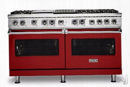 Viking Professional 5 Series Vdr5606gqarlp 60 Inch Freestanding Dual Fuel Range With Trucnovecã¢â�žâ¢ Cooking, Varisimmerã¢â�žâ¢ Estting, Vari-speed Dual-flowã¢â�žâ¢ Convection, Concealed Bake Element, Truglideã¢â�žâ¢ Extension Rack, Rapid Readyã¢â�žâ¢ Pr