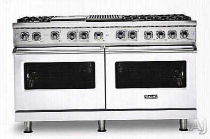 Viking Professional 5 Series Vdr5606gqwhlp 60 Inch Freestanding Dual Fuel Range With Truconvecã¢â�žâ¢ Cooking, Varisimmerã¢â�žâ¢ Setting, Vari-speed Dual-flowã¢â�žâ¢ Convection, Concealed Bake Element, Truglideã¢â�žâ¢ Extension Rack, Rapid Readyã¢â�žâ¢ Pr